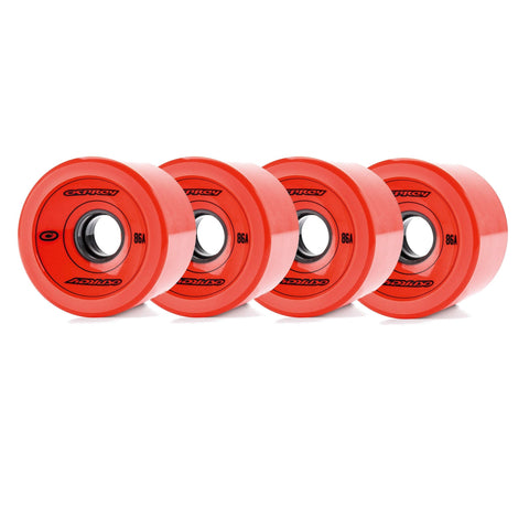 75 X 51mm Pu Skateboard Wheels Set 86A-Bob Gnarly Surf
