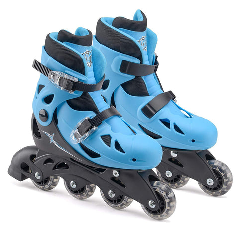 Kids Inline Skates Size Adjustable Blue / Black-Bob Gnarly Surf