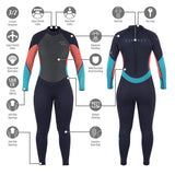 Womens 3mm Zero Full Length Wetsuit Coral - Bob Gnarly Surf