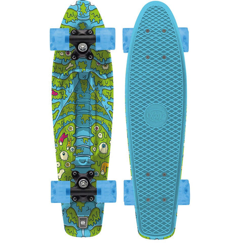 Spine Retro Classic Plastic Skateboard Cruiser-Bob Gnarly Surf
