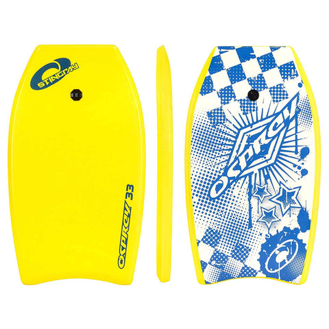 "Stingray 33"" Yellow Bodyboard with Leash"