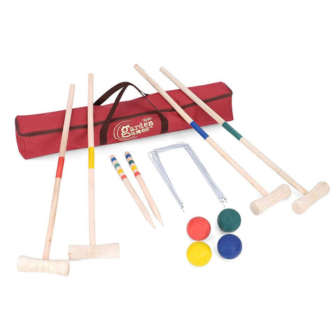 Wooden Croquet Set 4 Player - Bob Gnarly Surf