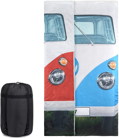 VW Camper Van Double Sleeping Bag for Kids and Adults-Bob Gnarly Surf