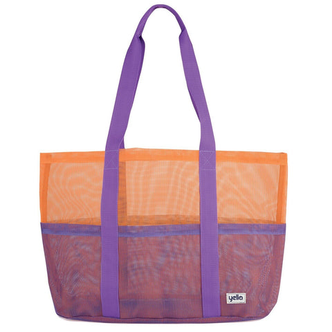 Mesh Tote Beach Bag Purple-Bob Gnarly Surf