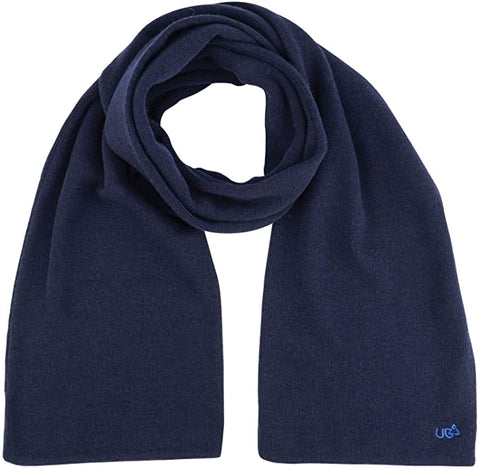 Mens Knitted Wrapper Scarf Blue-Bob Gnarly Surf