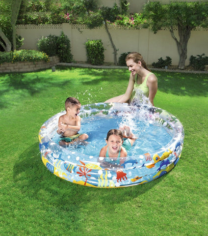 Kids Deep Dive 3-Ring Splash Paddling Pool-Bob Gnarly Surf