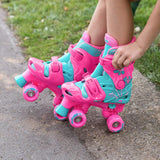 Kids Flowers Quad Roller Skates