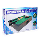 Power Play Table Top Pool Game, 20 Inch