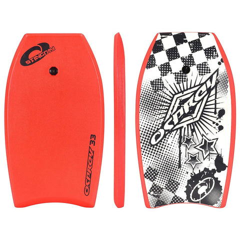 "Stingray 33"" Red Bodyboard with Leash-Bob Gnarly Surf"