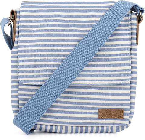 Water Resistant Cross Body Strap Small Canvas Bag
