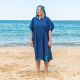 Unisex Adult Towel Poncho Changing Robe-Bob Gnarly Surf