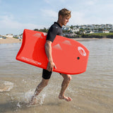 "Zero 40"" Red Bodyboard with Leash-Bob Gnarly Surf"