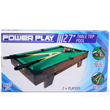 Power Play Table Top Pool Game, 27 Inch-Bob Gnarly Surf