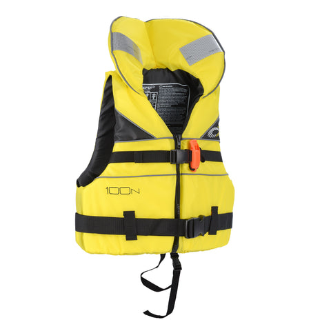 Junior 100N Life Jacket - Yellow-Bob Gnarly Surf