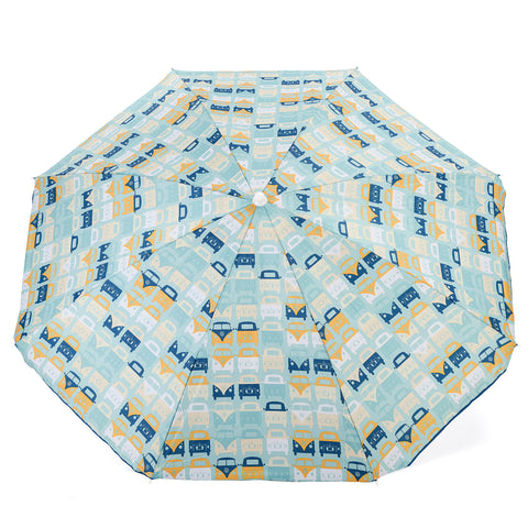 VW Blue Beach Parasol Volkswagen Officially Licensed