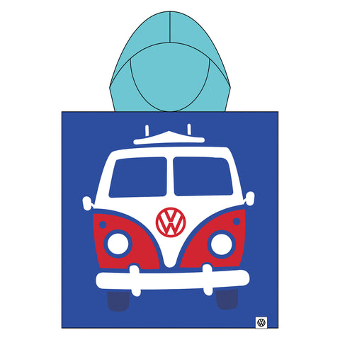 Boys Towel Poncho Volkswagen (VW) Official Licensed-Bob Gnarly Surf