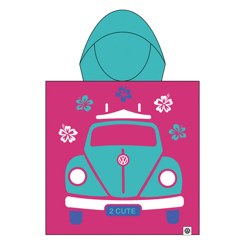 Girls Towel Poncho Volkswagen (VW) Official Licensed