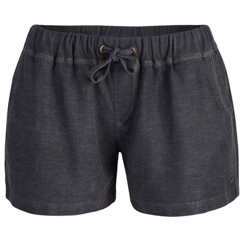 Women's Elender Linen Shorts Grey-Bob Gnarly Surf
