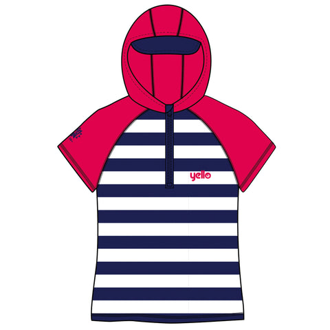 Infant Hooded Rash Vest Stripes Age 1-4