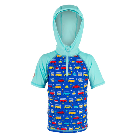 Boys Hooded Rashvest VW Official Licensed-Bob Gnarly Surf