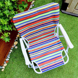 Low Folding Beach Chair Stripes-Bob Gnarly Surf