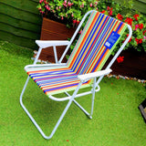 Striped Folding Camping Chair-Bob Gnarly Surf