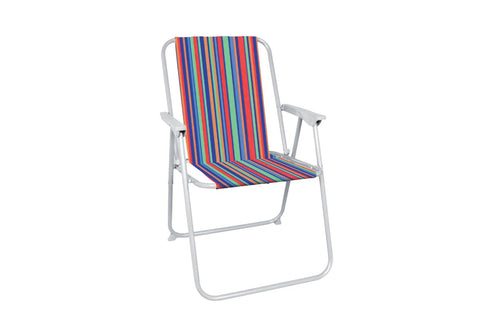 Striped Folding Camping Chair - Bob Gnarly Surf