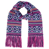 Women's Regent Patterned Knitted Scarf-Bob Gnarly Surf