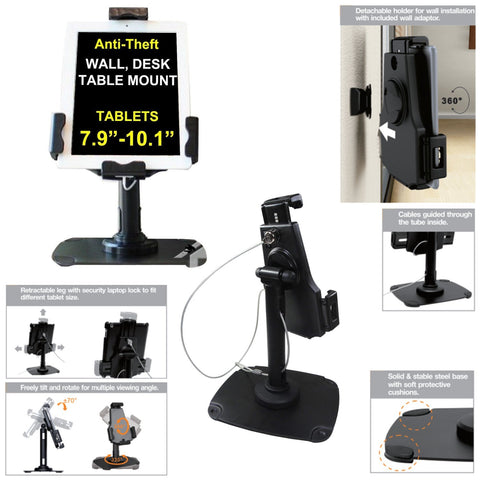 Anti Theft Counter Wall / Desk Mount for iPad - Bob Gnarly Surf