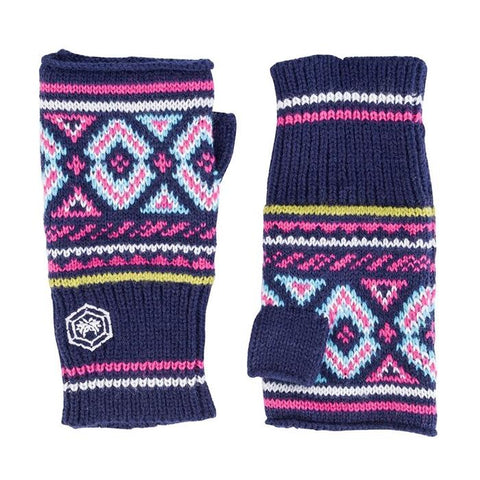 Audrey Patterned Fingerless Gloves - Bob Gnarly Surf