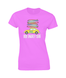 Beetle Fully Stacked Ladies Fitted T-Shirt-Bob Gnarly Surf