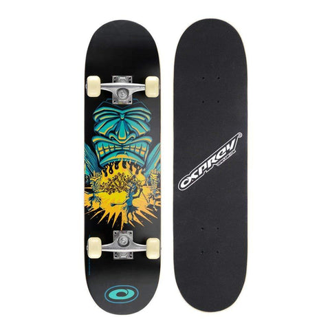 "Black Double Kick 31"" Skateboard - Savages-Bob Gnarly Surf"