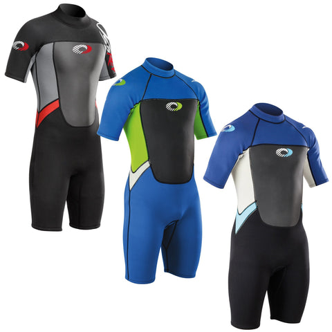 Boys 3mm Shorty Wetsuit - Bob Gnarly Surf