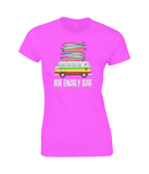 Camper Van Fully Stacked Ladies Fitted T-Shirt-Bob Gnarly Surf
