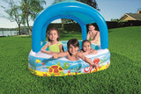 Canopy Inflatable Kids Paddling Pool - Bob Gnarly Surf