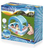 Canopy Inflatable Kids Paddling Pool-Bob Gnarly Surf
