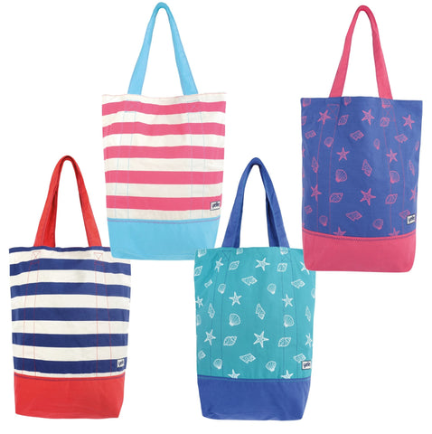 Canvas Beach Bags-Bob Gnarly Surf