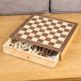 Chess and Draughts 2-in-1 Game Board Set-Bob Gnarly Surf
