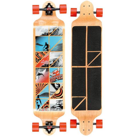 "Cube 41"" Red Twin Tip Drop Down Longboard-Bob Gnarly Surf"