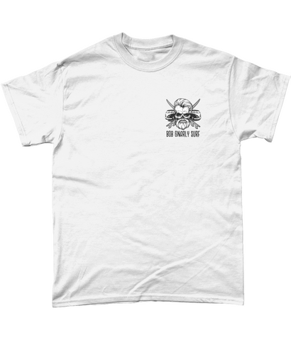 Bob Gnarly Surf Skull & Crossboards Chesty Tee