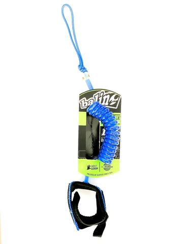 Deluxe Coil 1.2M Bodyboard Wrist Leash Strap Blue-Bob Gnarly Surf