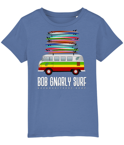 Grom Fully Stacked Camper Kids T-Shirt-Bob Gnarly Surf