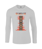Fire TIKI Totem Classic Long Sleeved T-Shirt - Bob Gnarly Surf