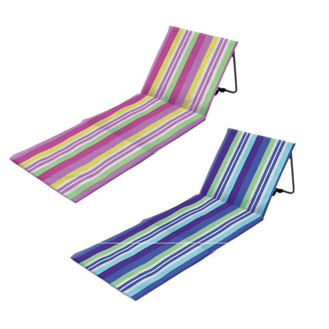 Folding Beach Loungers Camping Festival Beach Pool Adjustable Deck Chair-Bob Gnarly Surf