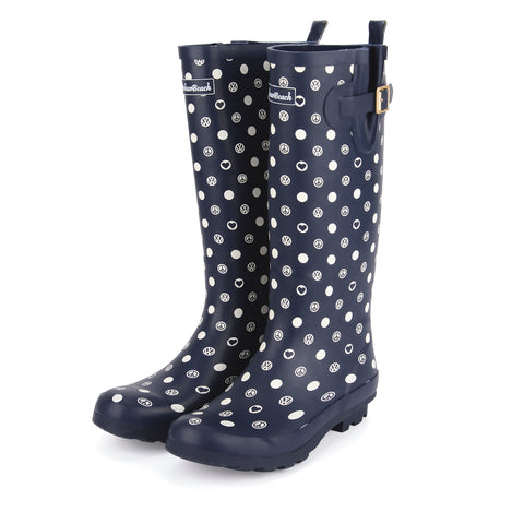 VW Women's Poppy Wellies-Bob Gnarly Surf
