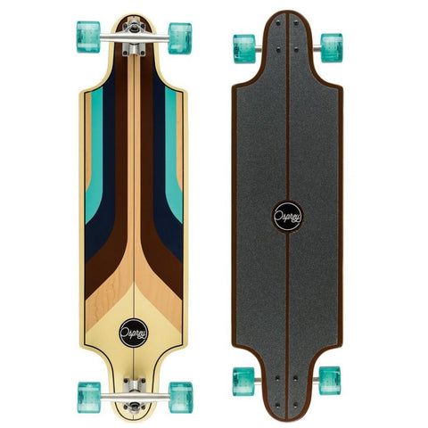 "Generation Blue 38"" Twin Tip Longboard-Bob Gnarly Surf"