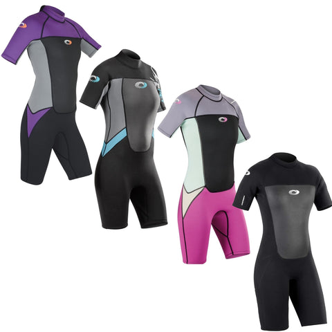 Origin Womens 3/2mm Shorty Wetsuit-Bob Gnarly Surf