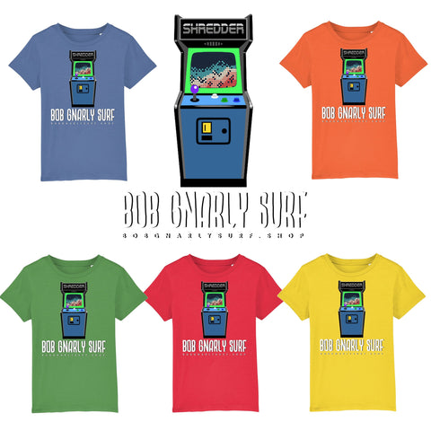 Mini Shredder Retro Arcade Game Kids T-Shirt-Bob Gnarly Surf