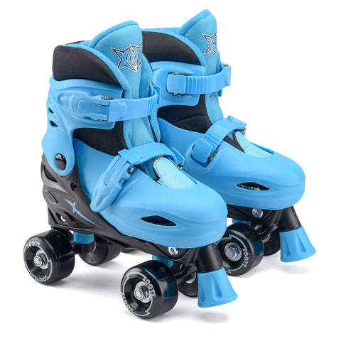 Kids Quad Skates Size Adjustable Blue / Black