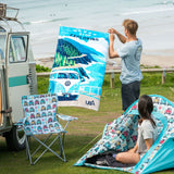 VW Large Beach Towels-Bob Gnarly Surf